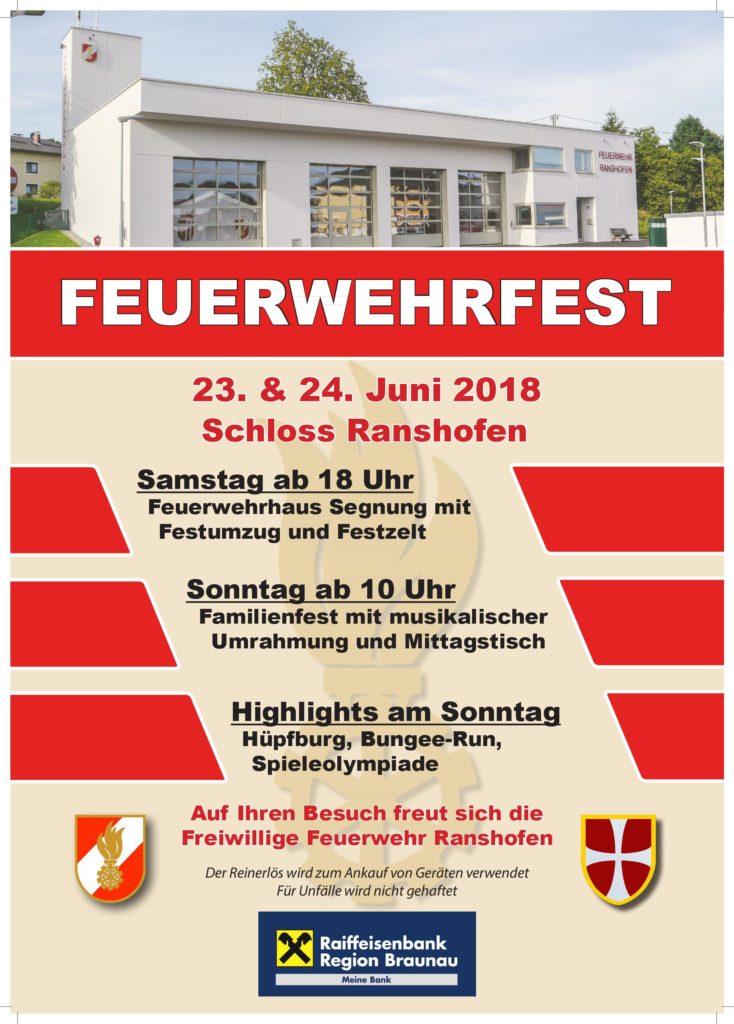 Feuerwehrfest der Freiwilligen Feuerwehr Ranshofen | STS Braunau Simbach